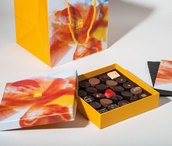 Gamme Mulhaupt - sac luxe et boîte chocolats rigide