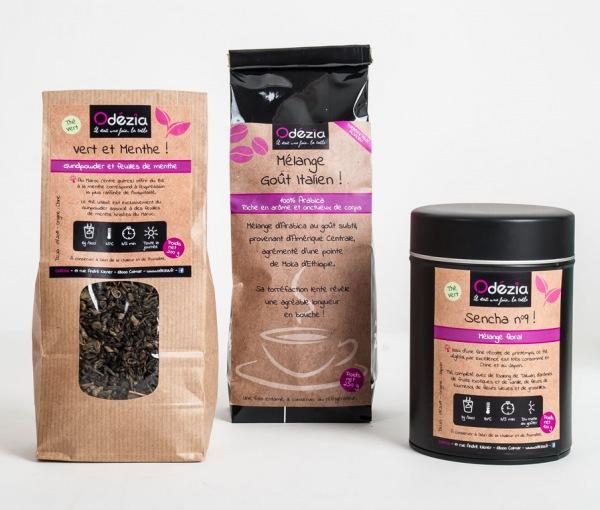 Gamme Odézia - emballages café et thé